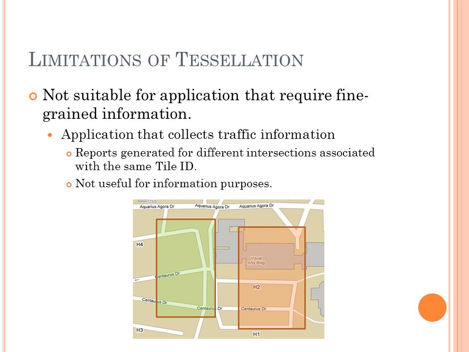 L IMITATIONS OF T ESSELLATION Not suitable for application that require fine- grained information.