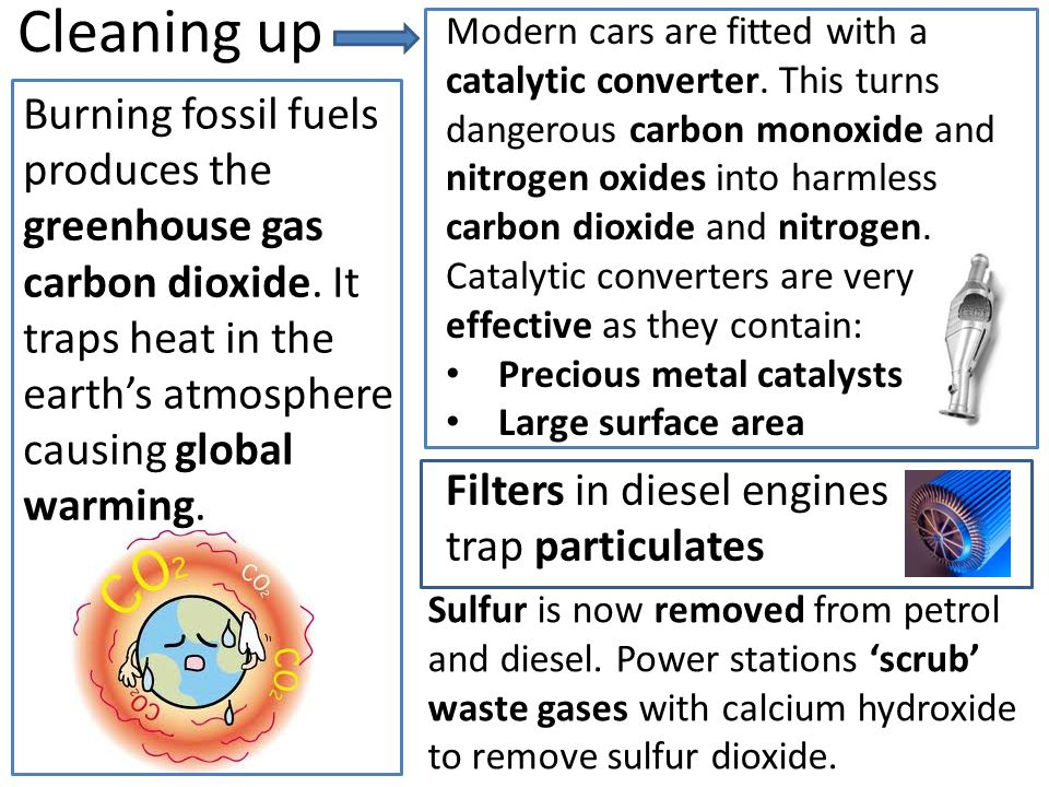 Take one sheet of A3 paper and create a mindmap or poster of the problems of burning fuels and what we have done to reduce them.