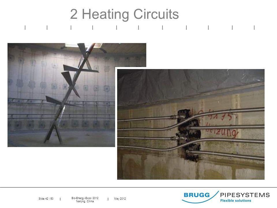 Slide 42 / 50 Bio-Energy-Expo 2012 Nanjing, China May 2012 2 Heating Circuits