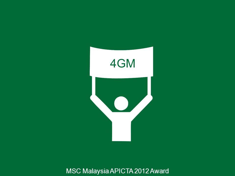 4GM MSC Malaysia APICTA 2012 Award