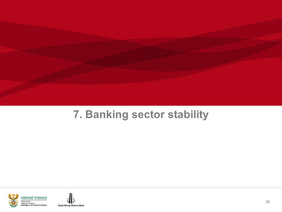 36 7. Banking sector stability