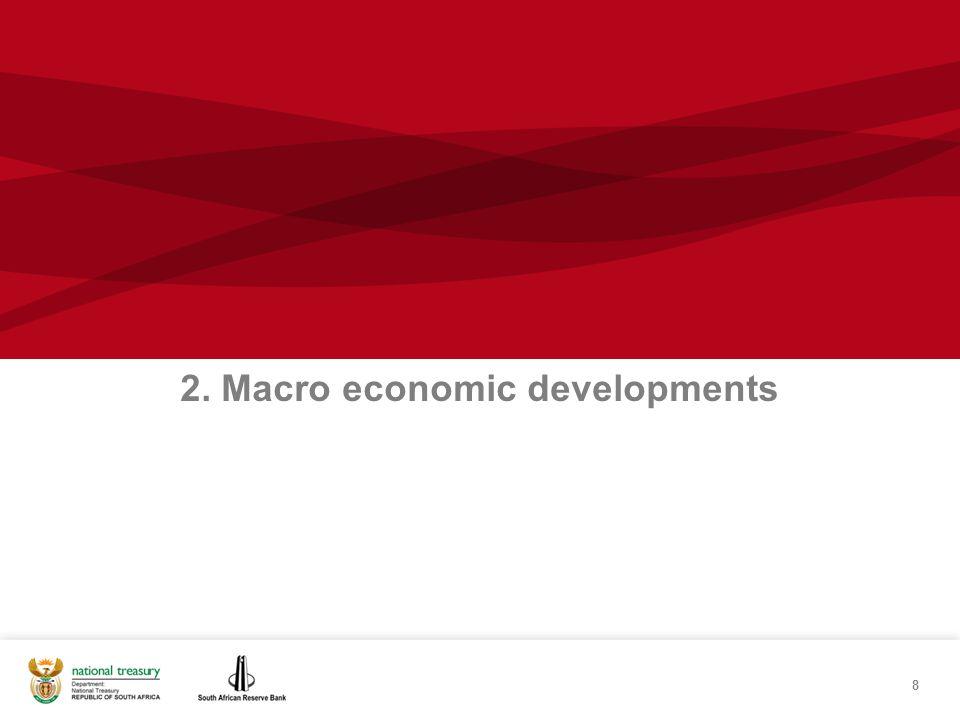 8 2. Macro economic developments