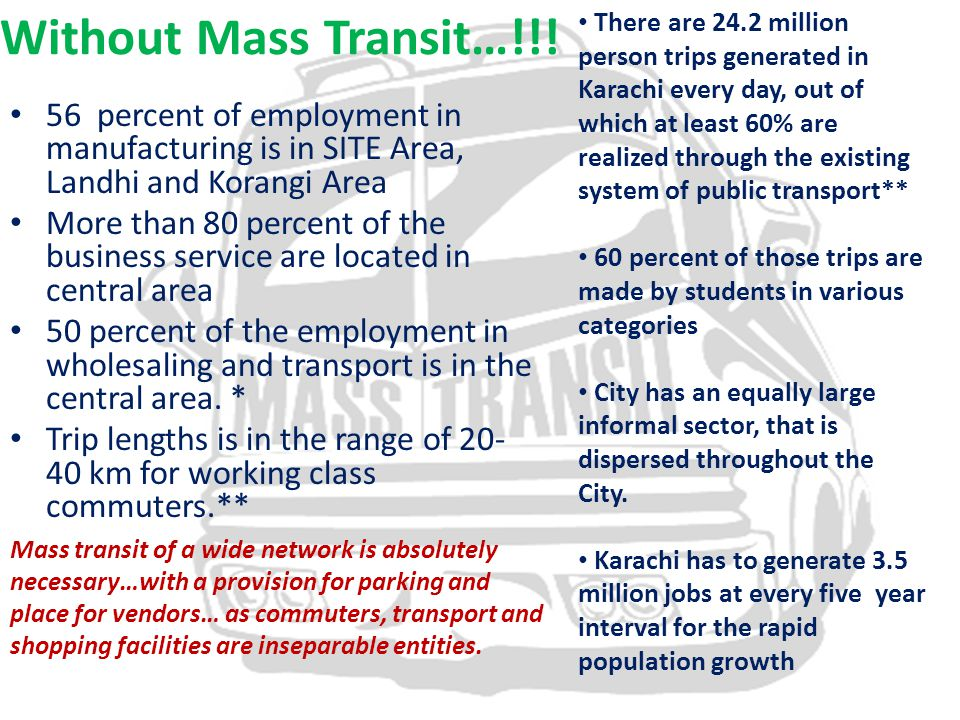Without Mass Transit…!!.