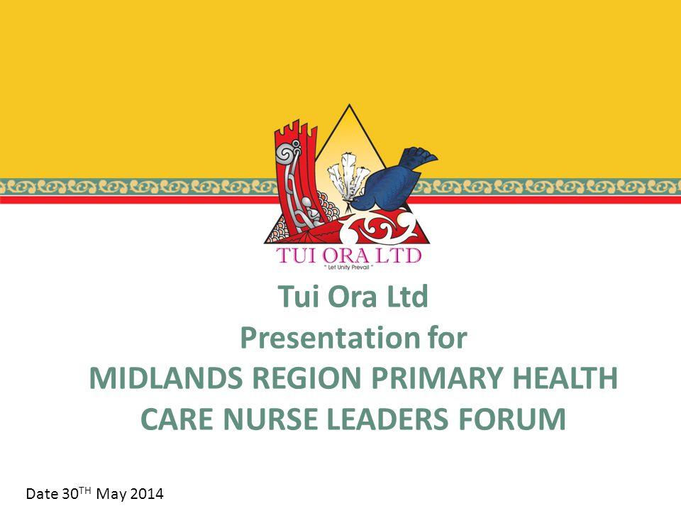 POPULATION – TUI ORA FAMILY HEALTH MHN Locality: North Taranaki - Proportion of MHN: 4%