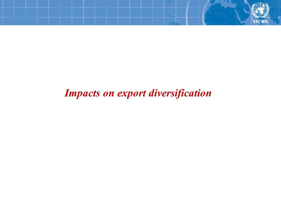 Impacts on export diversification