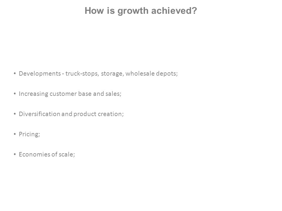 How is growth achieved.