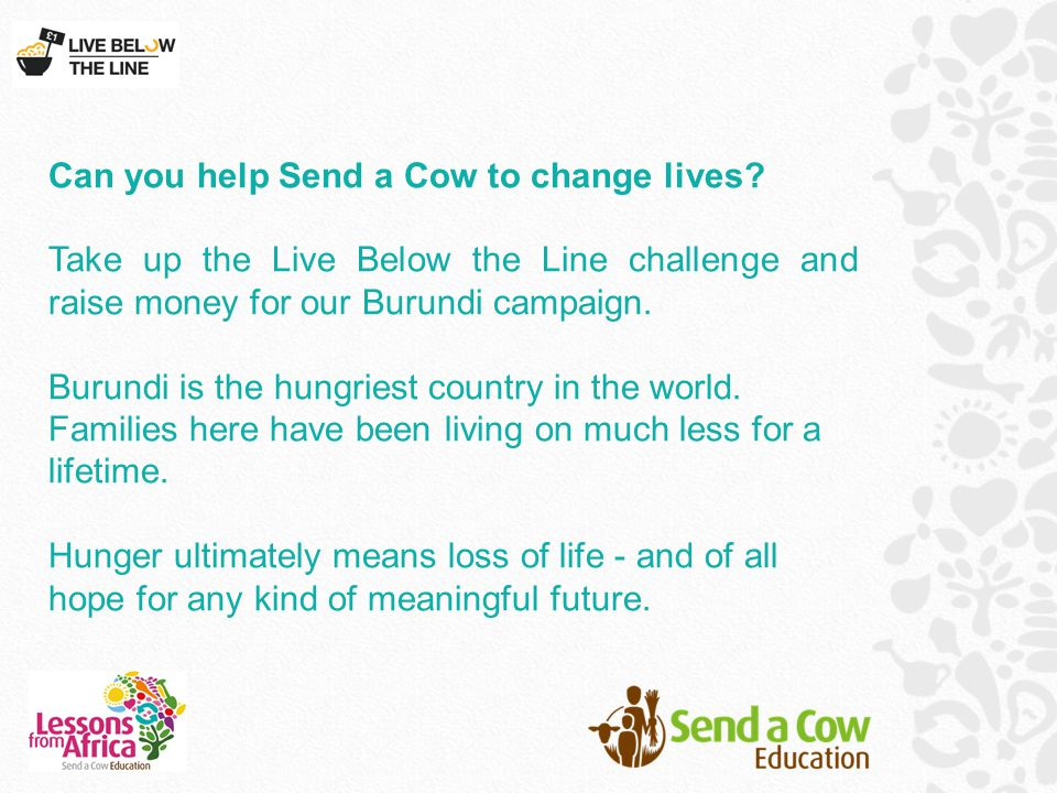 Can you help Send a Cow to change lives.