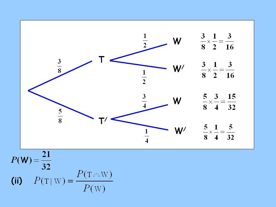 W T T/T/ W W/W/ W/W/ (ii)