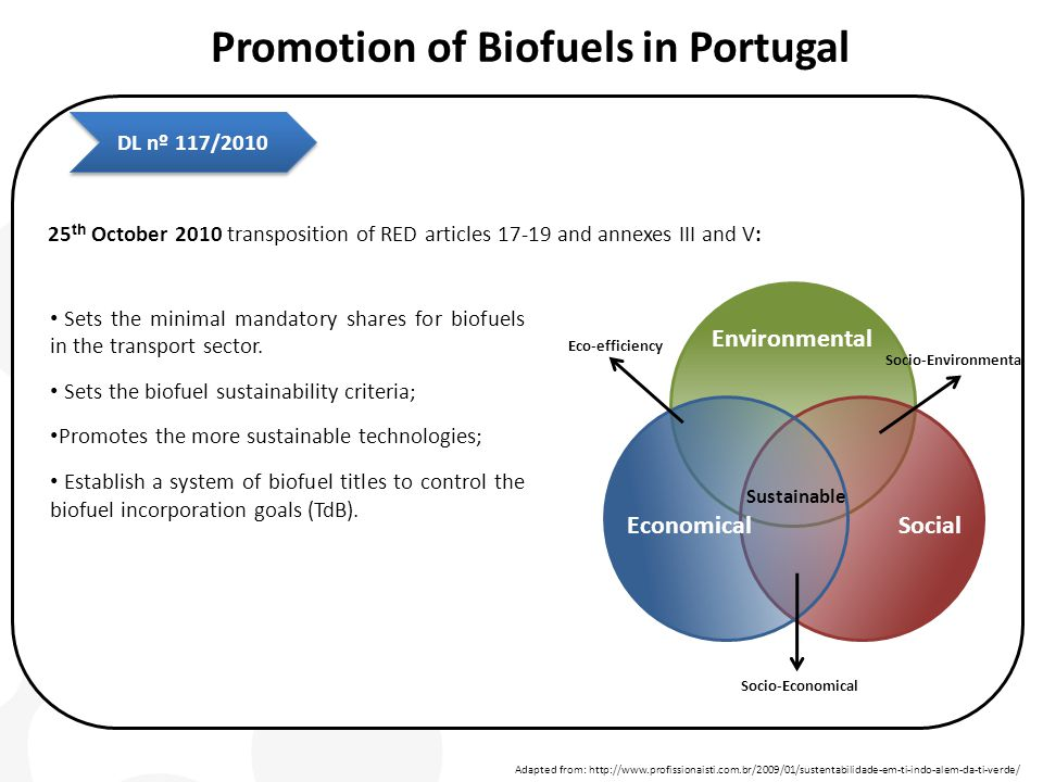 Sets the minimal mandatory shares for biofuels in the transport sector. Sets the biofuel sustainability criteria; Promotes the more sustainable techno