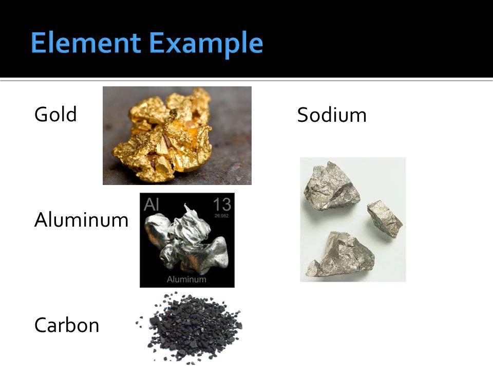 Gold Aluminum Carbon Sodium