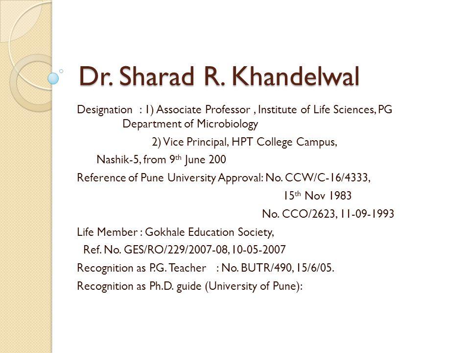 Dr. Sharad R.
