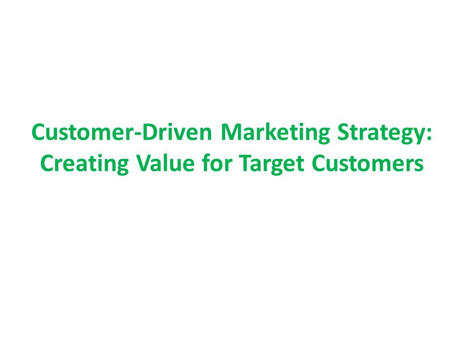 1.Market Segmentation 2.Market Targeting 3.Differentiation and Positioning