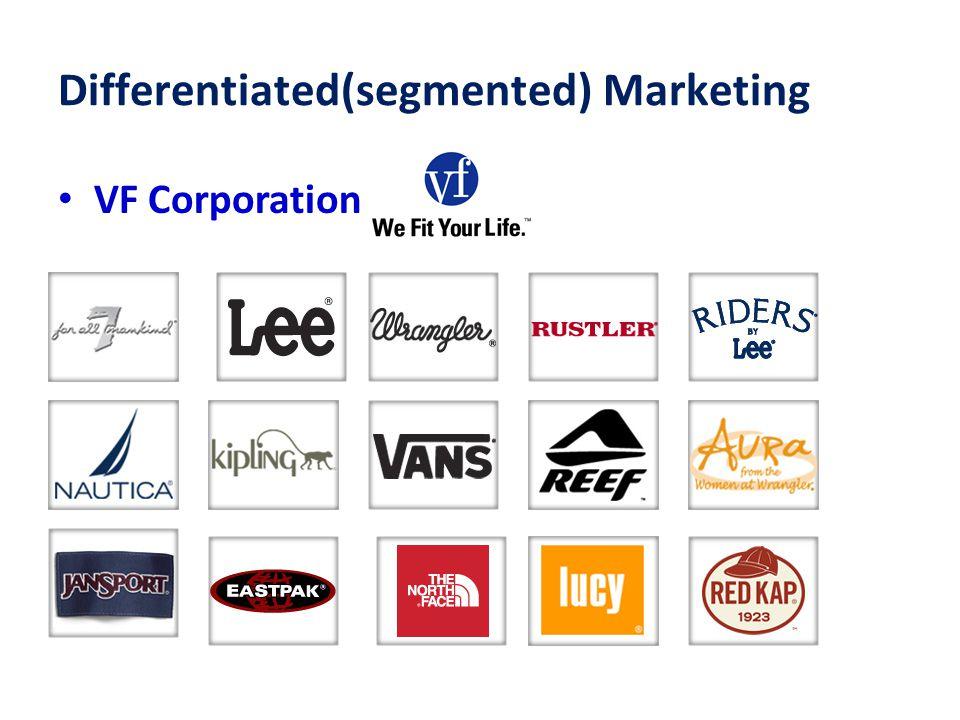 Differentiated(segmented) Marketing VF Corporation