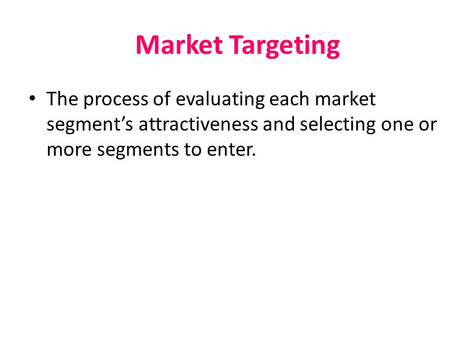 Market Segmentation Behavioral segmentation  Dividing a market into groups based on consumer knowledge, attitudes, uses, or responses to a product.