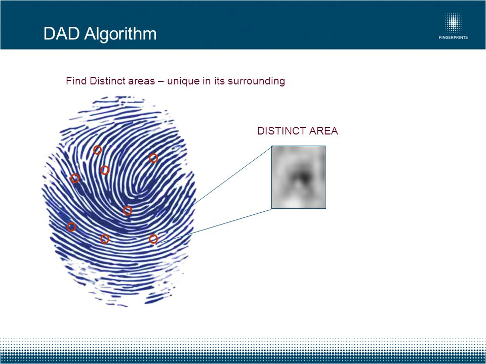 Find Distinct areas – unique in its surrounding DISTINCT AREA DAD Algorithm