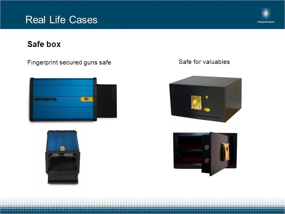 Real Life Cases Safe box Fingerprint secured guns safe Safe for valuables