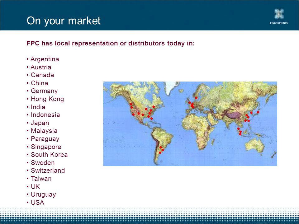 FPC has local representation or distributors today in: Argentina Austria Canada China Germany Hong Kong India Indonesia Japan Malaysia Paraguay Singap