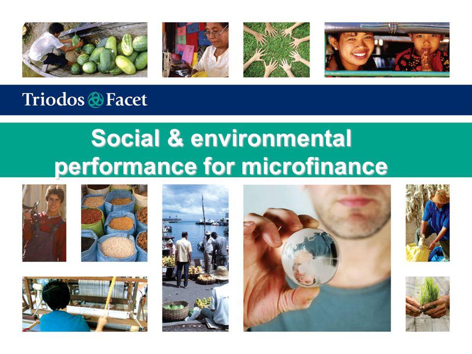 The triple bottom line Financial performance Social performance Environmental performance
