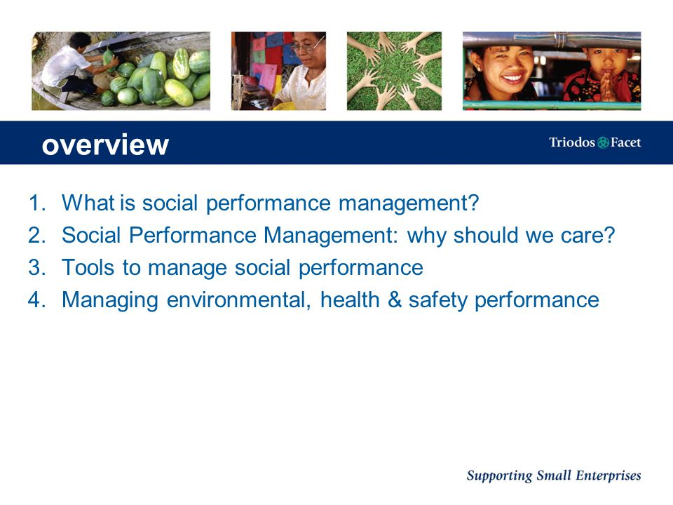 1.Social scorecards: SPI & QAT QAT reviews: Objectives set Strategy for meeting objectives Monitoring systems Information quality Information analysis & use Tools for SPM