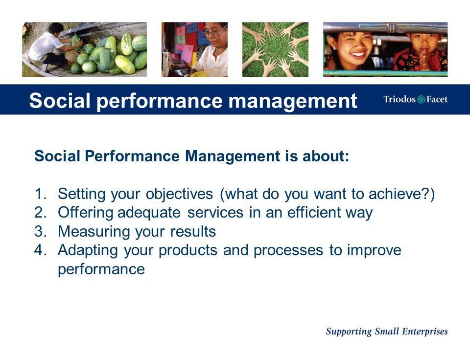 Social performance management