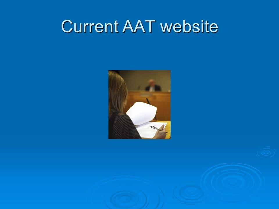 Current AAT website