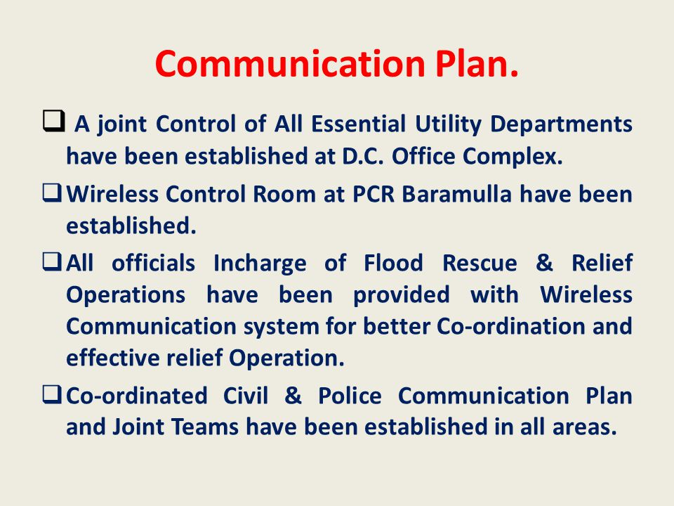 Communication Plan.