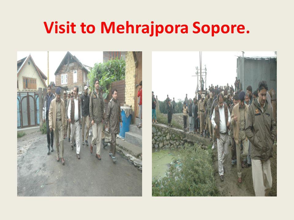 Visit to Mehrajpora Sopore.
