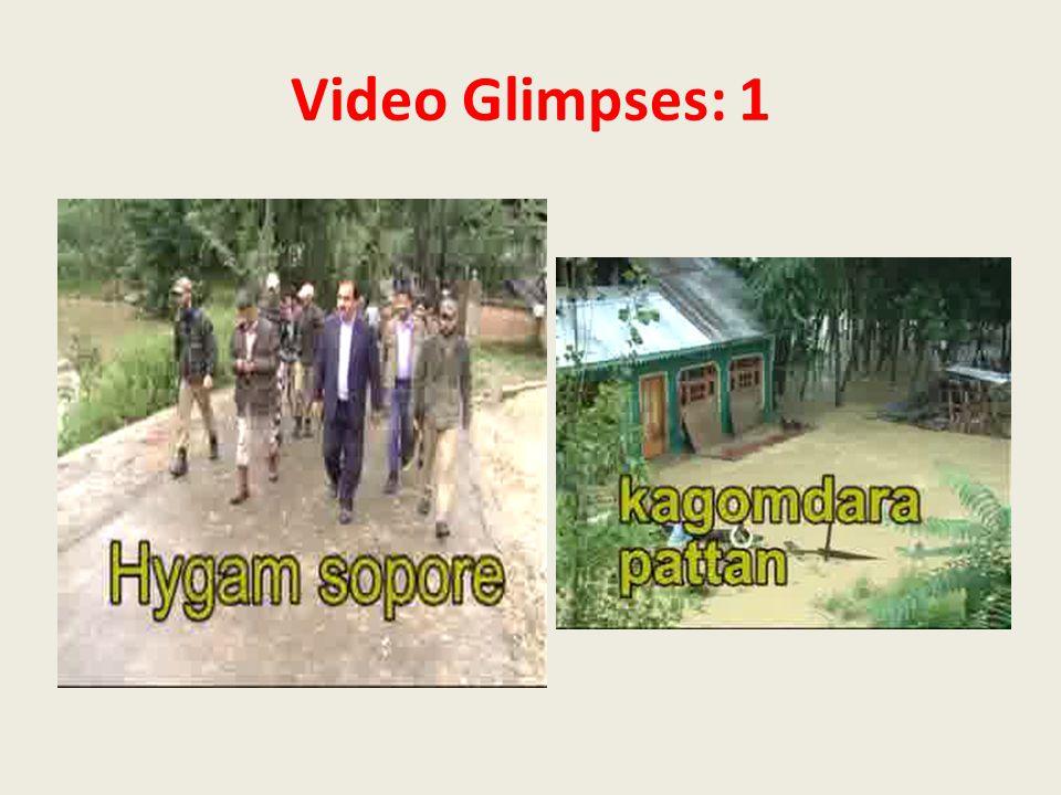 Video Glimpses: 1