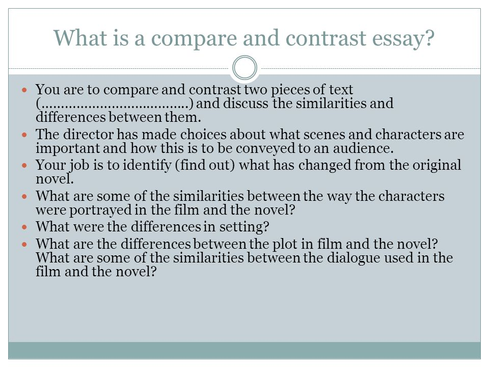 Writing comparative essay