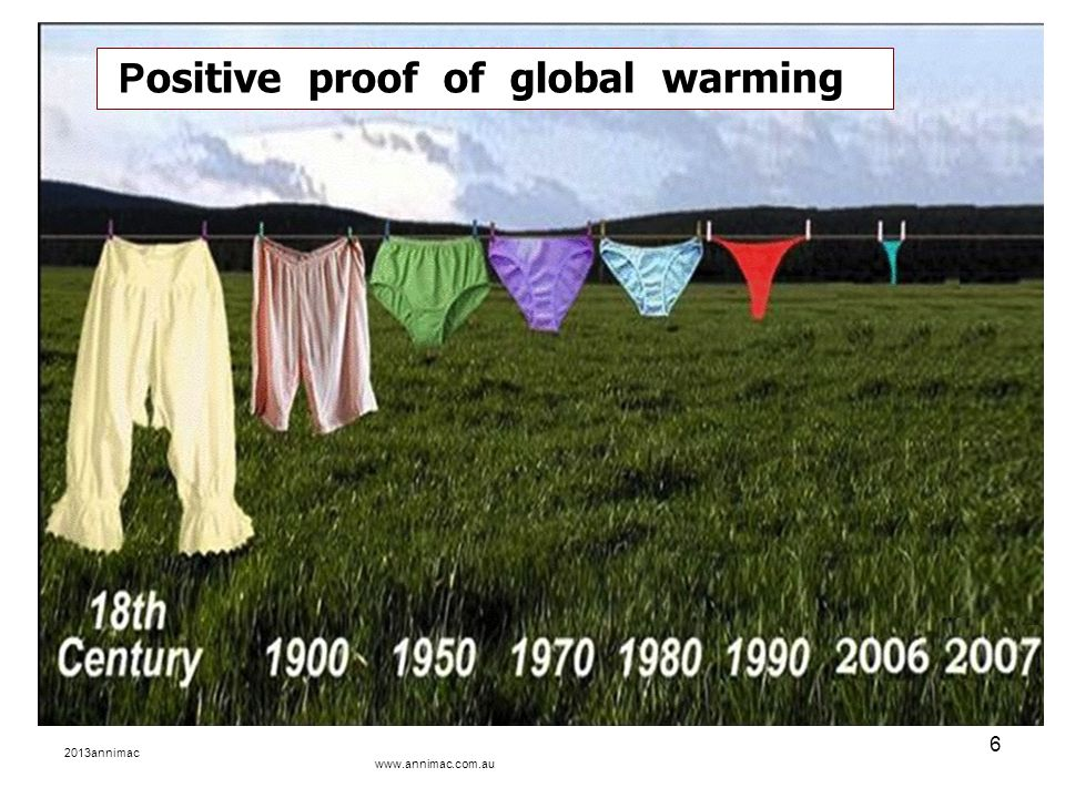 2013annimac www.annimac.com.au 6 P ositive proof of global warming