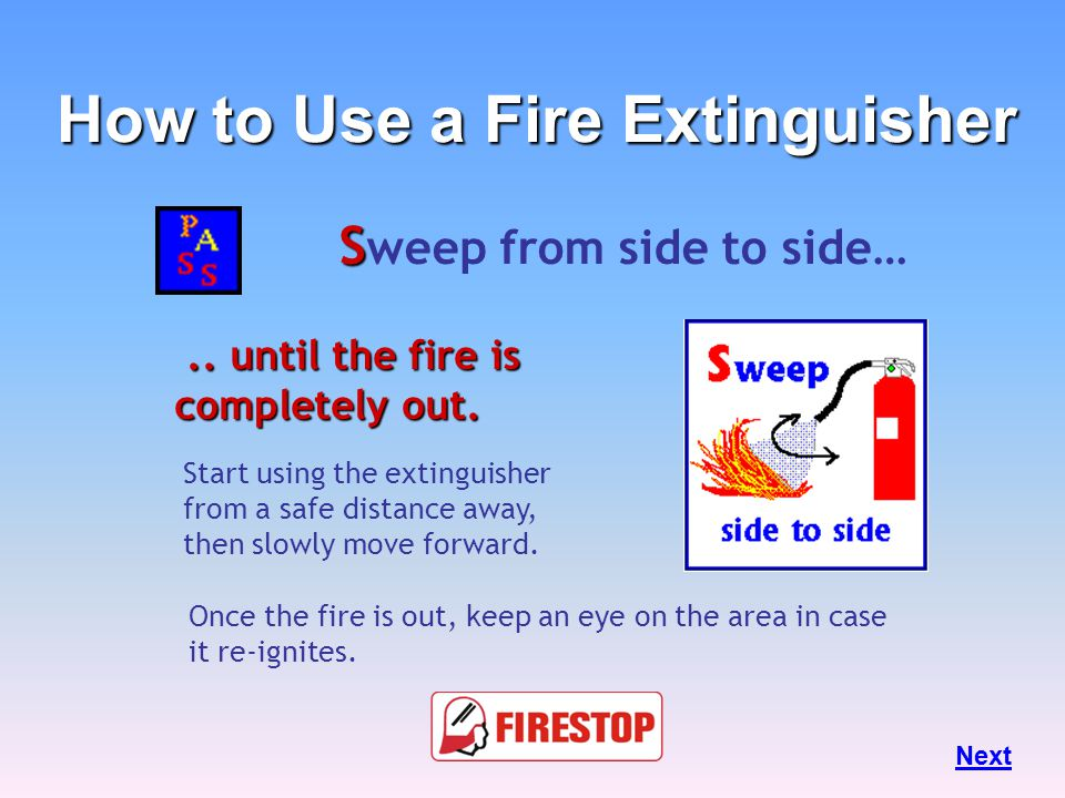 Squeeze, rotate or hit the top of the handle… This depresses a pin that releases the pressurized extinguishing agent. Next How to Use a Fire Extinguis