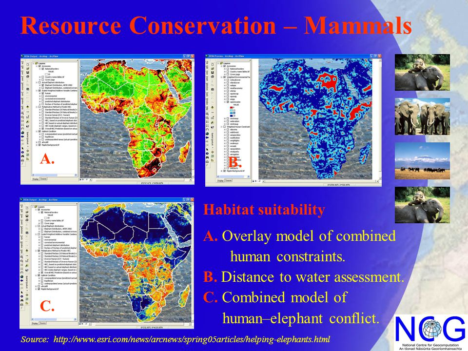 Resource Conservation – Mammals Habitat suitability A.