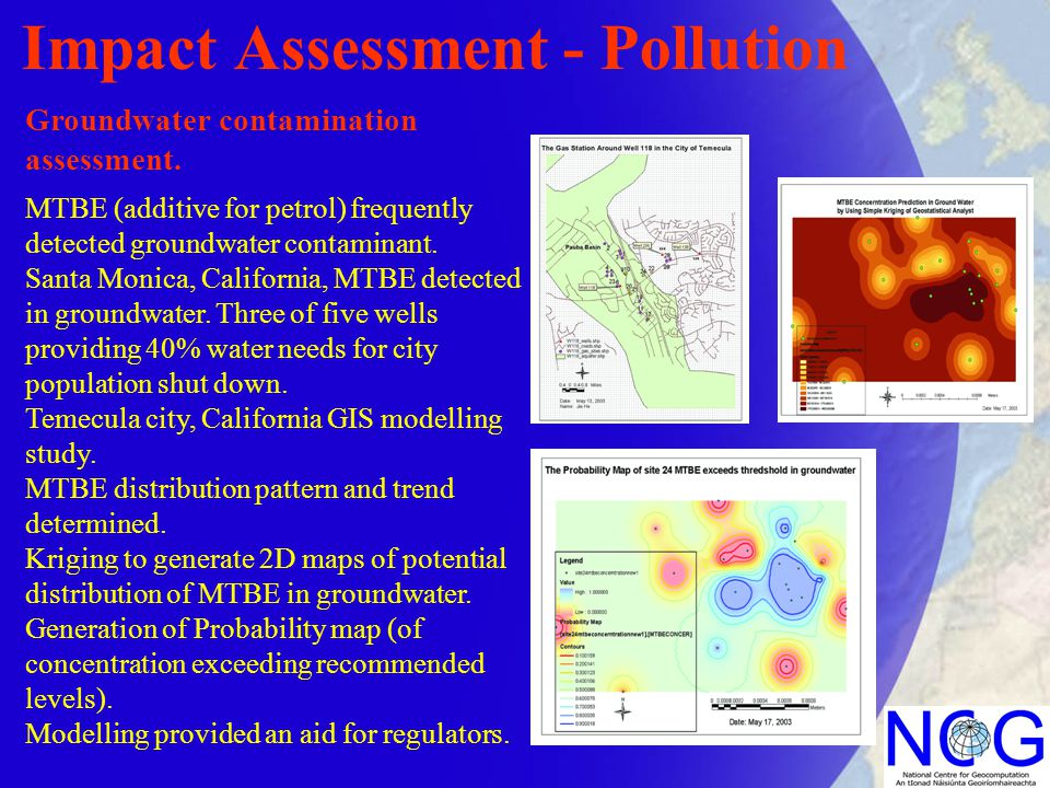 Impact Assessment - Pollution Groundwater contamination assessment.