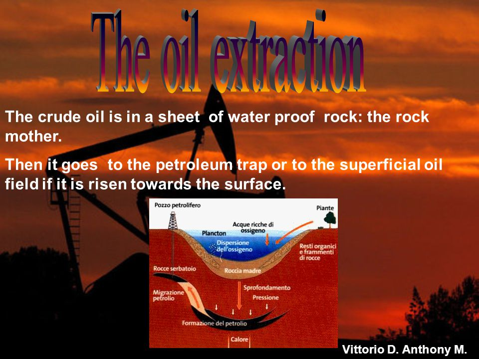 The crude oil is in a sheet of water proof rock: the rock mother.
