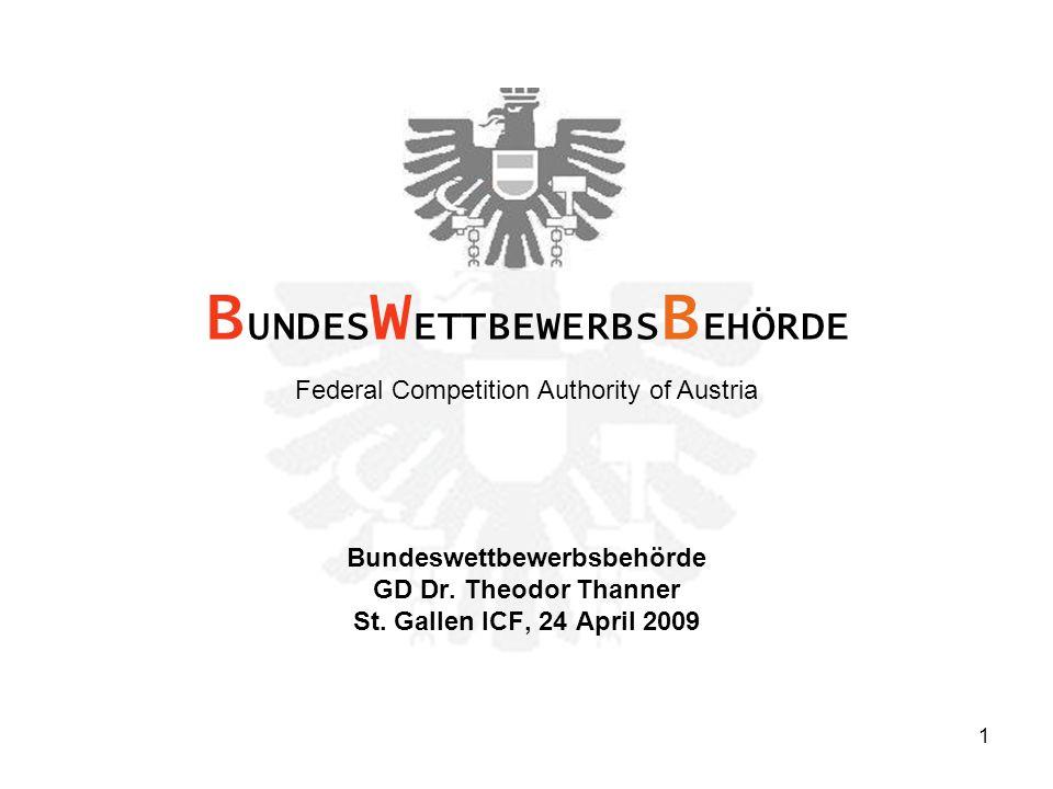 1 Bundeswettbewerbsbehörde GD Dr.Theodor Thanner St.