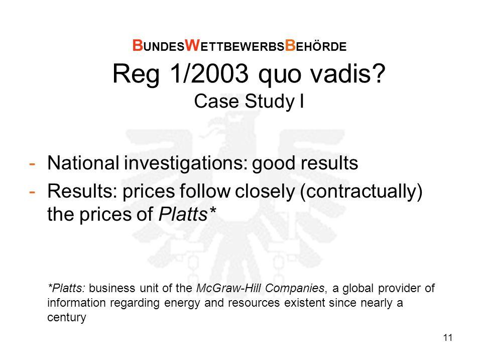 11 Reg 1/2003 quo vadis.