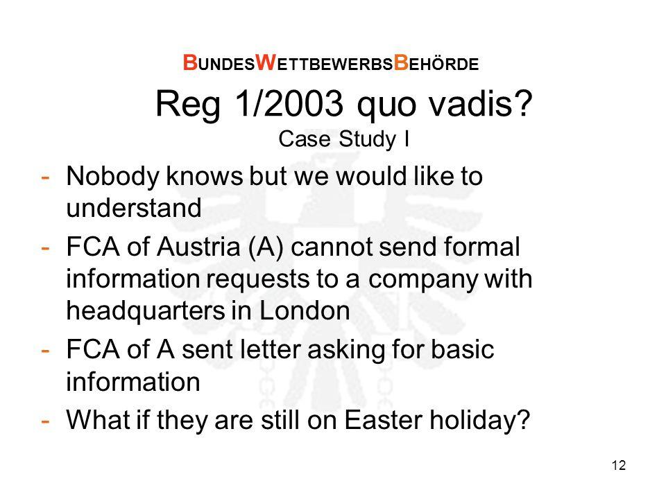 12 Reg 1/2003 quo vadis.