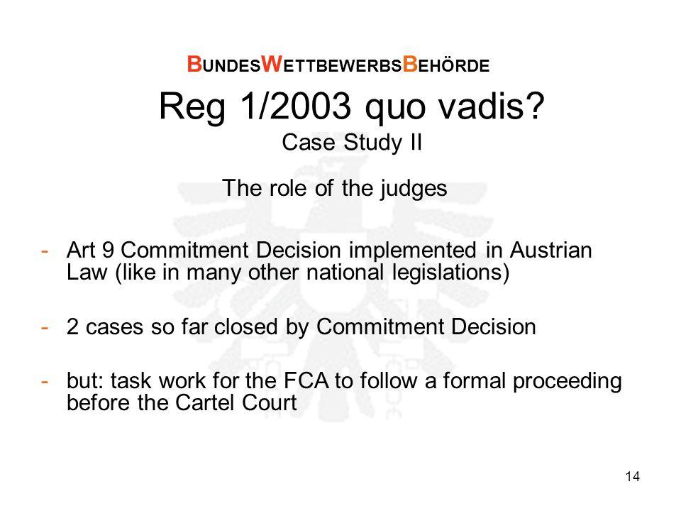 14 Reg 1/2003 quo vadis.