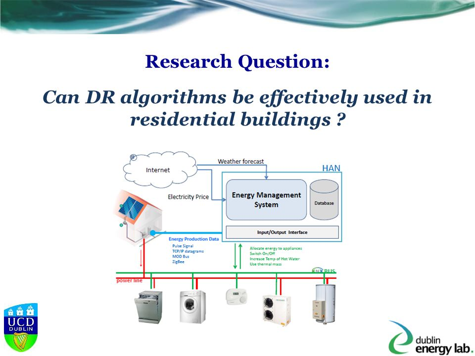 Research Question: Can DR algorithms be effectively used in residential buildings ?