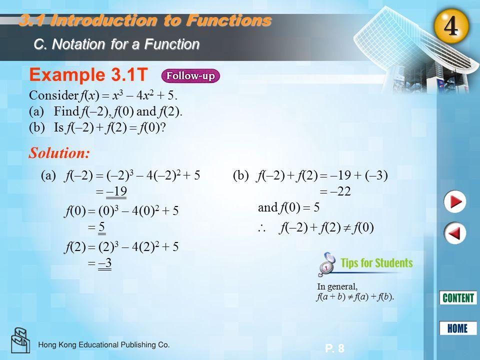 P. 8 Example 3.1T Consider f(x)  x 3 – 4x 2 + 5.