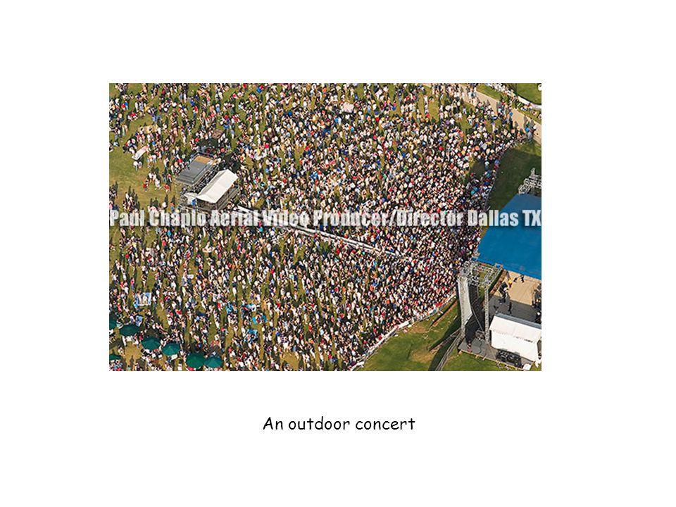 An outdoor concert