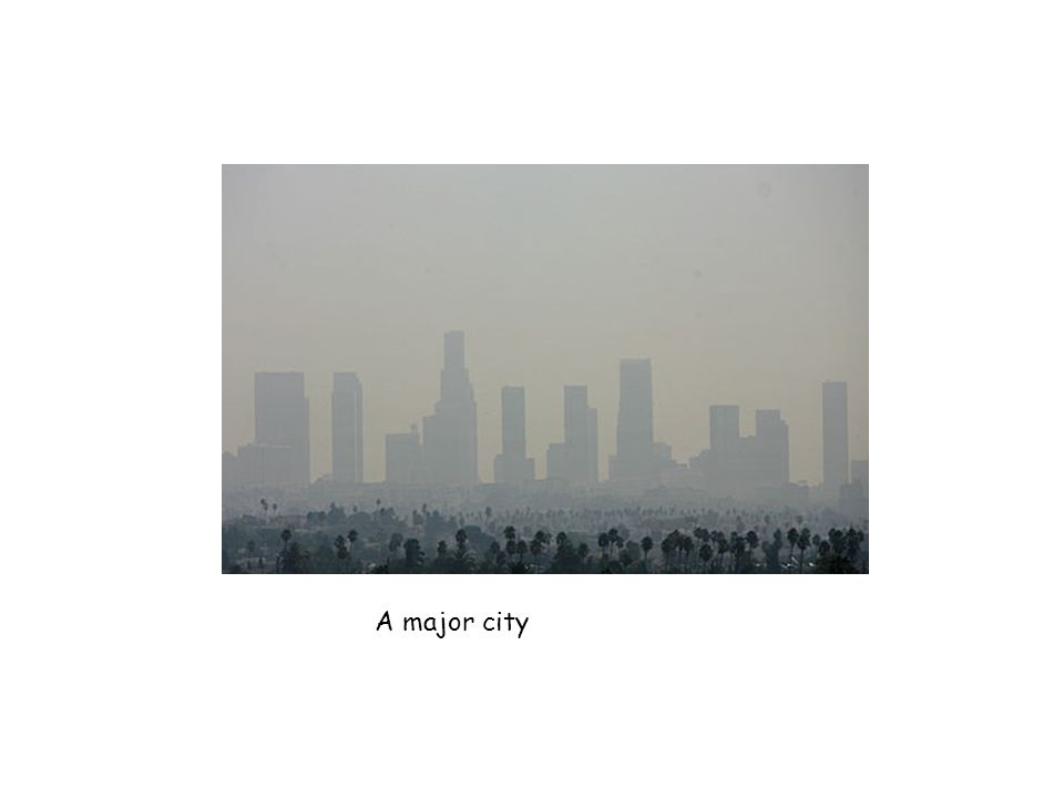 A major city