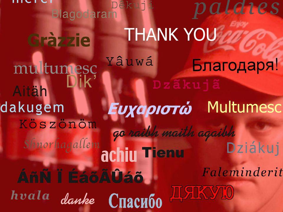 THANK YOU Ευχαριστώ Multumesc