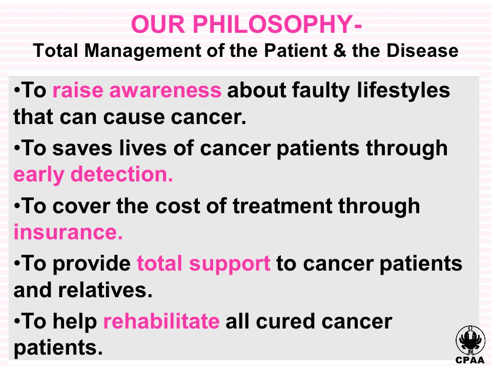 To raise awareness about faulty lifestyles that can cause cancer.