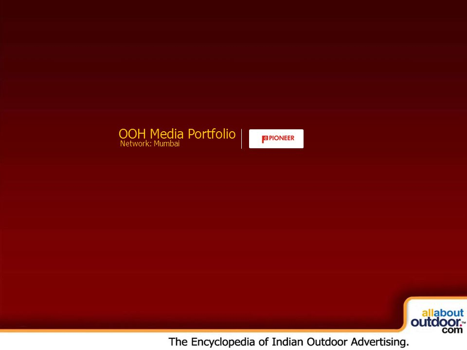 OOH Media Portfolio Network: Mumbai