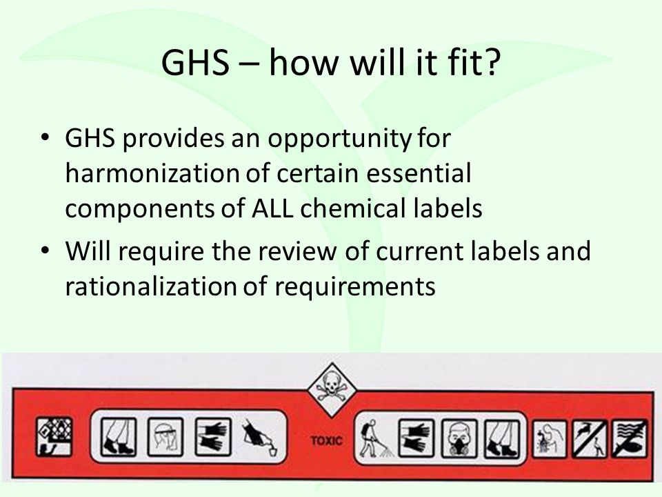 GHS – how will it fit.