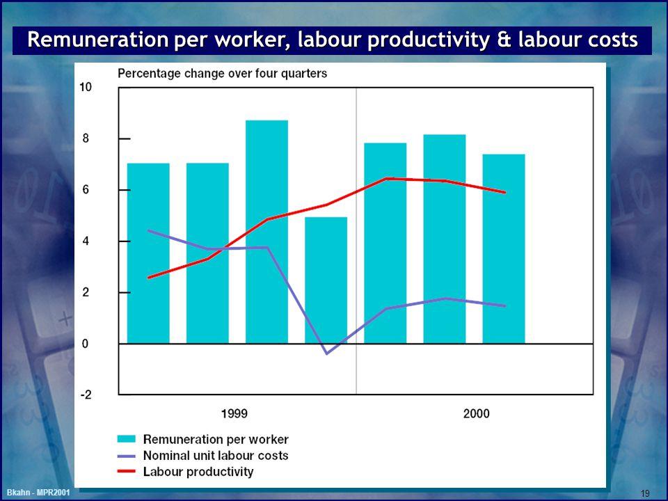 Bkahn - MPR2001 19 Remuneration per worker, labour productivity & labour costs
