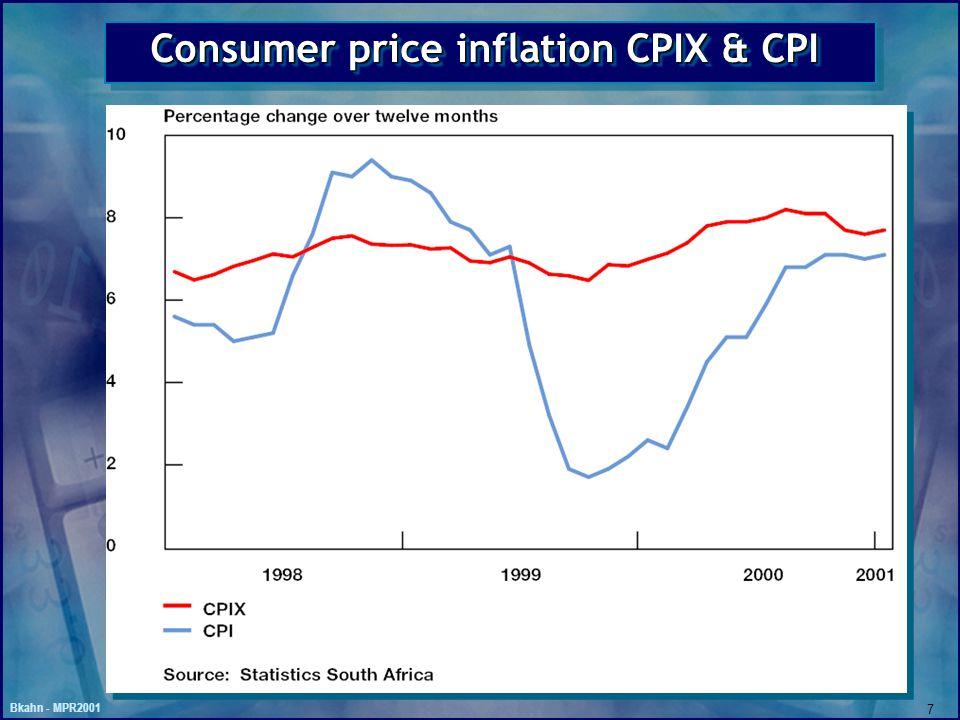 Bkahn - MPR2001 7 Consumer price inflation CPIX & CPI