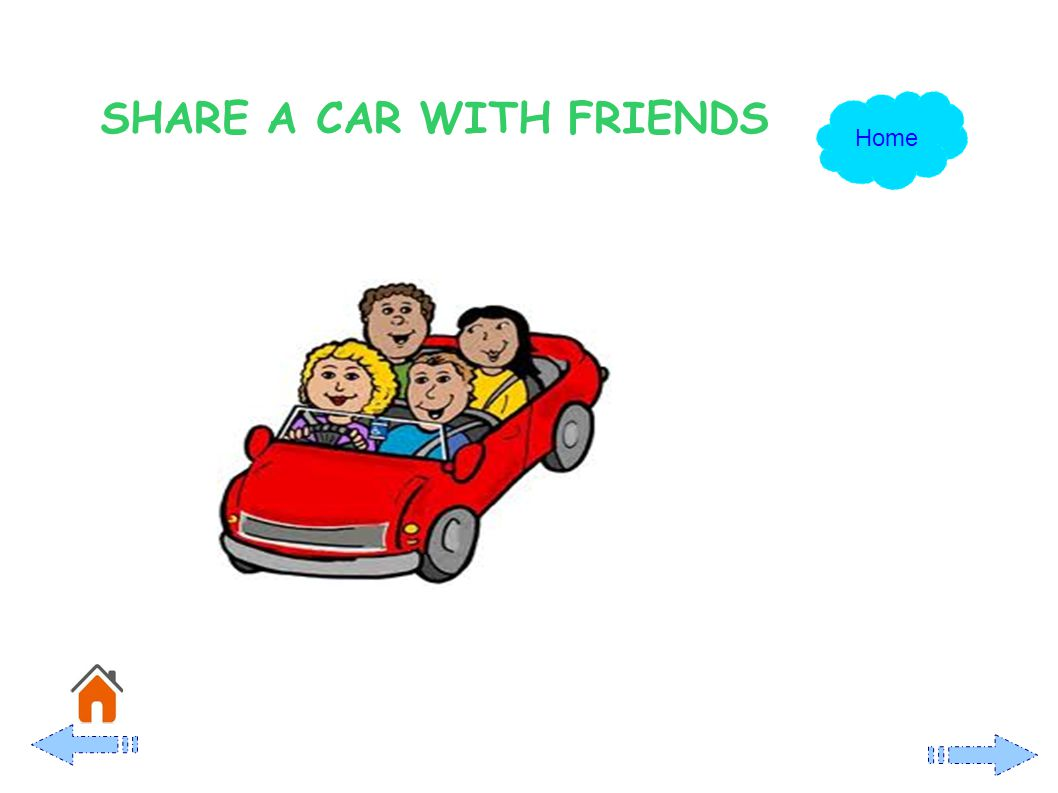 SHARE A CAR WITH FRIENDS Home
