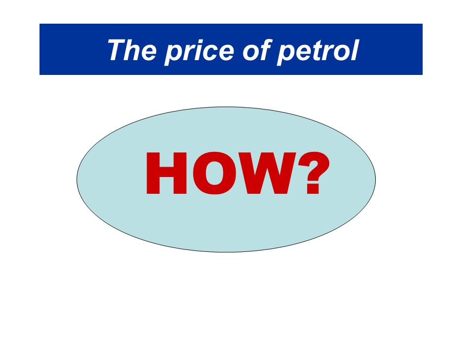 The price of petrol HOW?